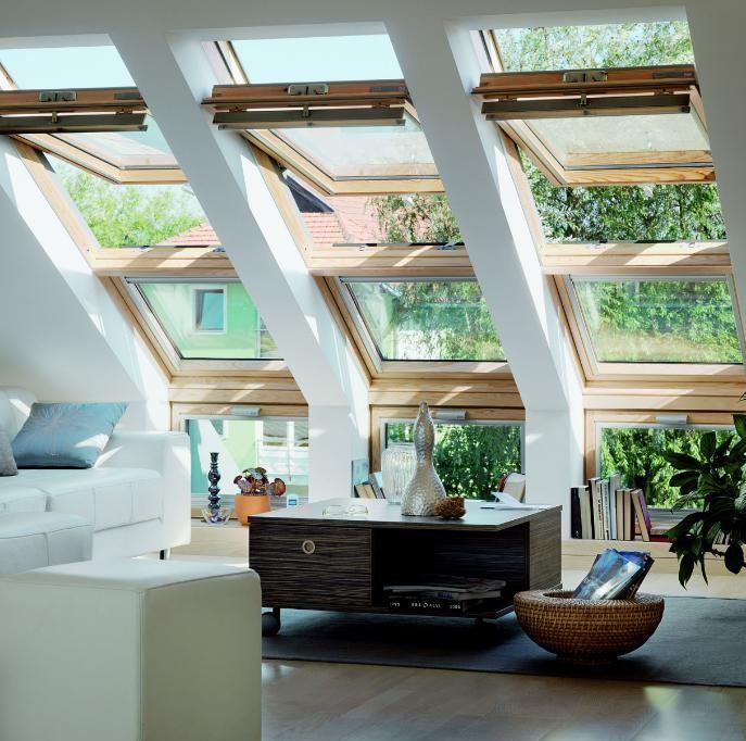 חלונות לגגות רעפים - מבט פנימי